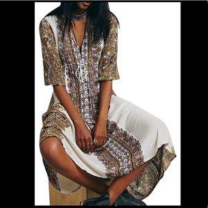 Free People Tea Azalea Empire Maxi/Midi Dress XS